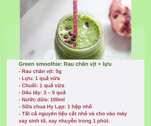 công thức green smoothie giảm cân, công thức smoothie giảm cân đơn giản, thực đơn smoothies giảm cân, các công thức smoothie giảm cân